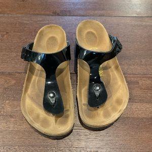 Birkenstock Gizeh black patent leather size 37